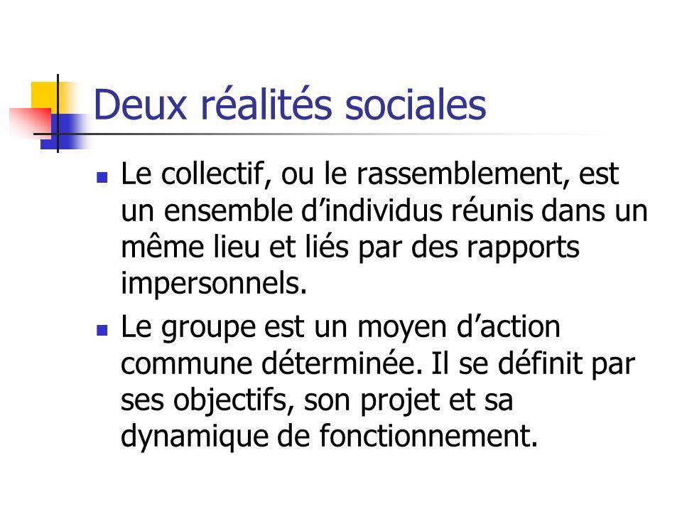 Deux réalités sociales