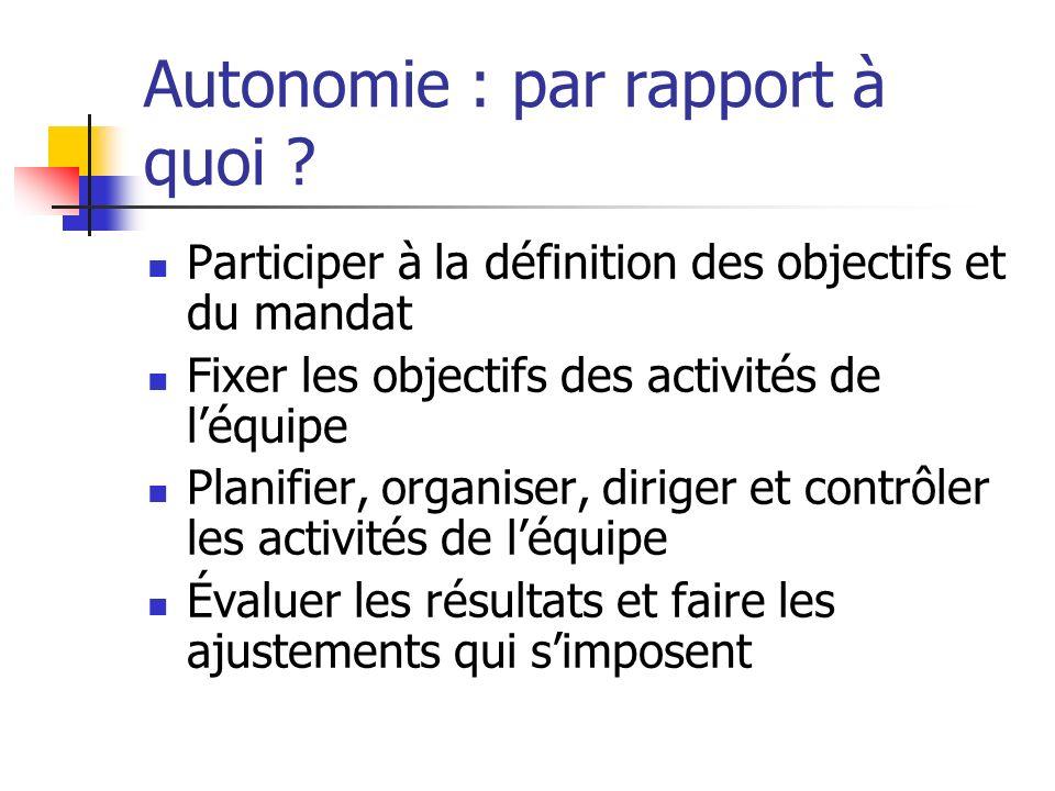Autonomie : par rapport à quoi
