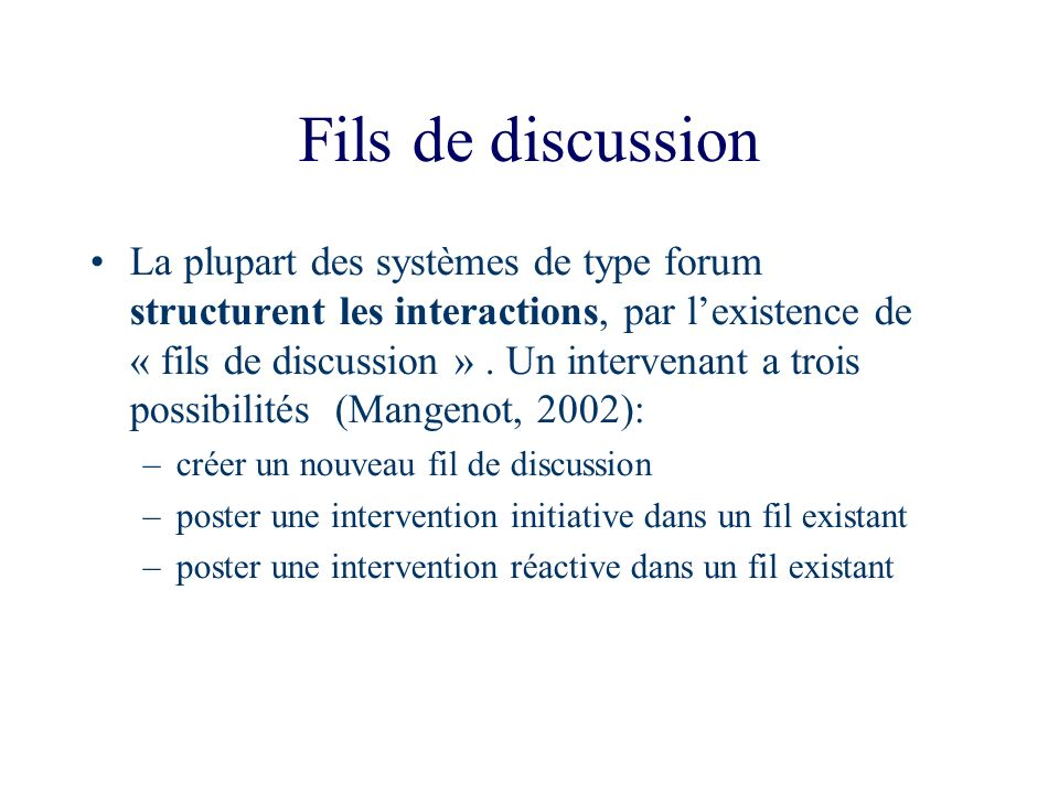Fils de discussion