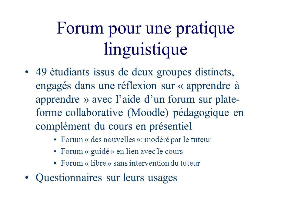 Forum pour une pratique linguistique