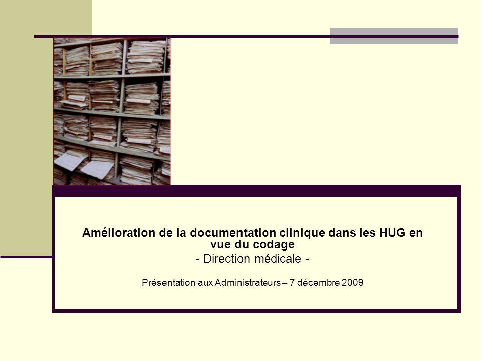 Présentation aux Administrateurs – 7 décembre 2009
