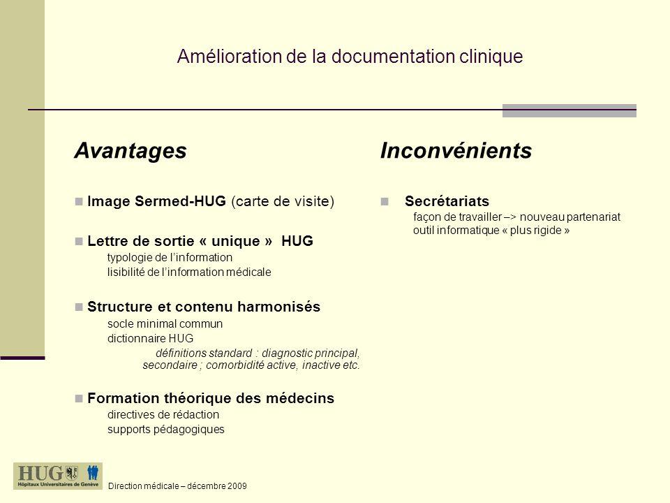 Amélioration de la documentation clinique