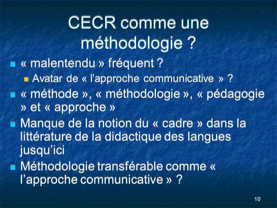 CECR comme une méthodologie