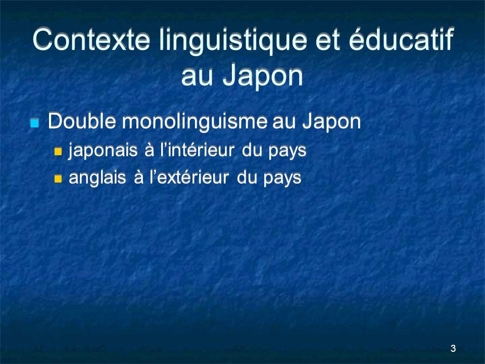 Contexte linguistique et éducatif au Japon