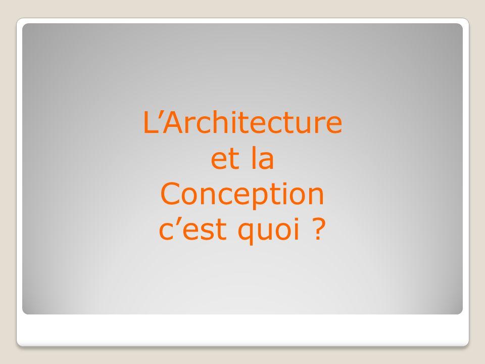 L'Architecture et la Conception c'est quoi
