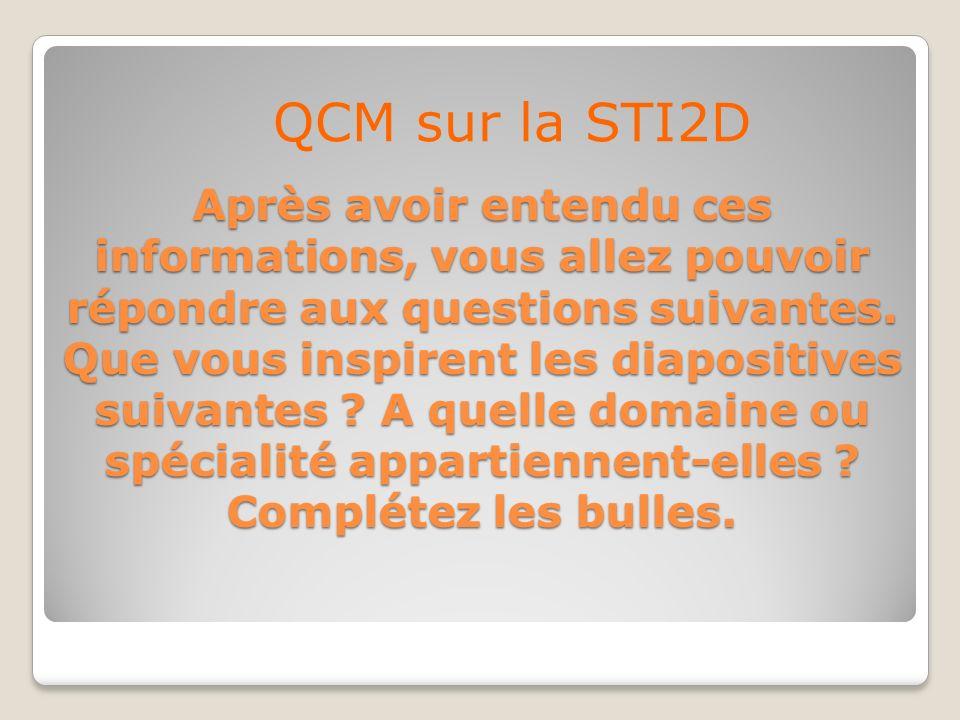 QCM sur la STI2D