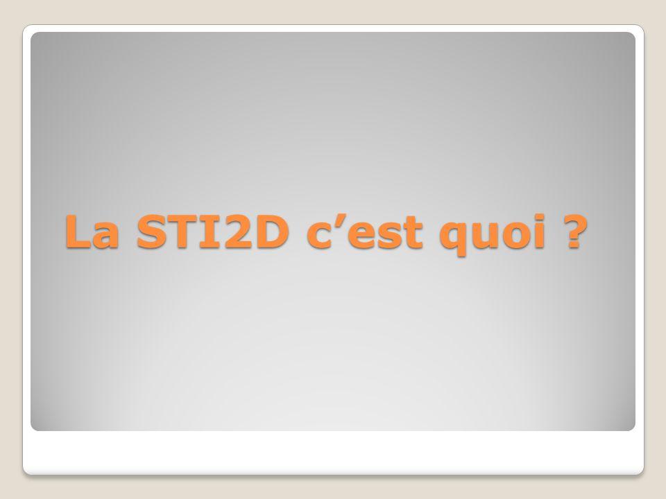 La STI2D c'est quoi