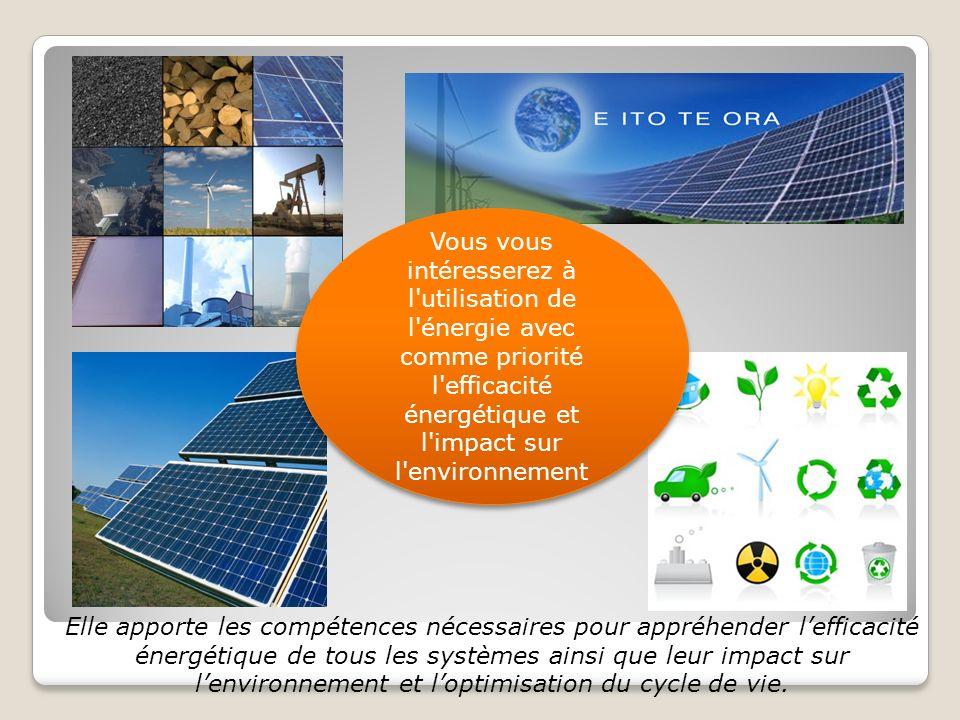 l efficacité énergétique et l impact sur l environnement