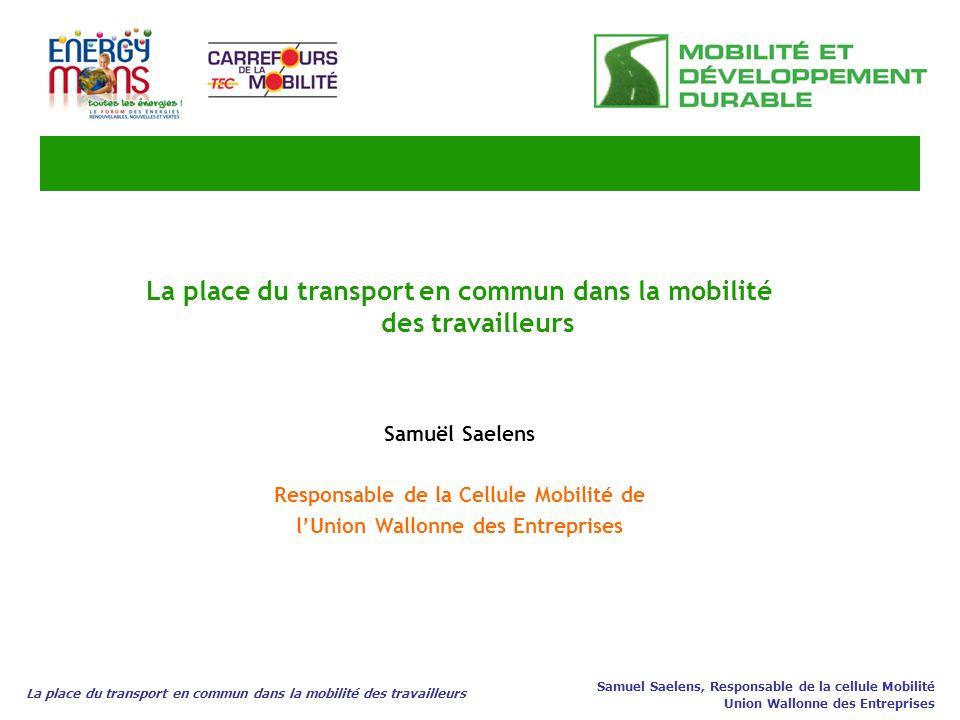 La place du transport en commun dans la mobilité des travailleurs