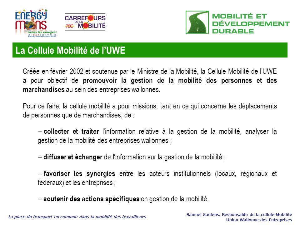 La Cellule Mobilité de l'UWE
