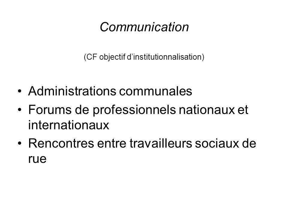(CF objectif d'institutionnalisation)