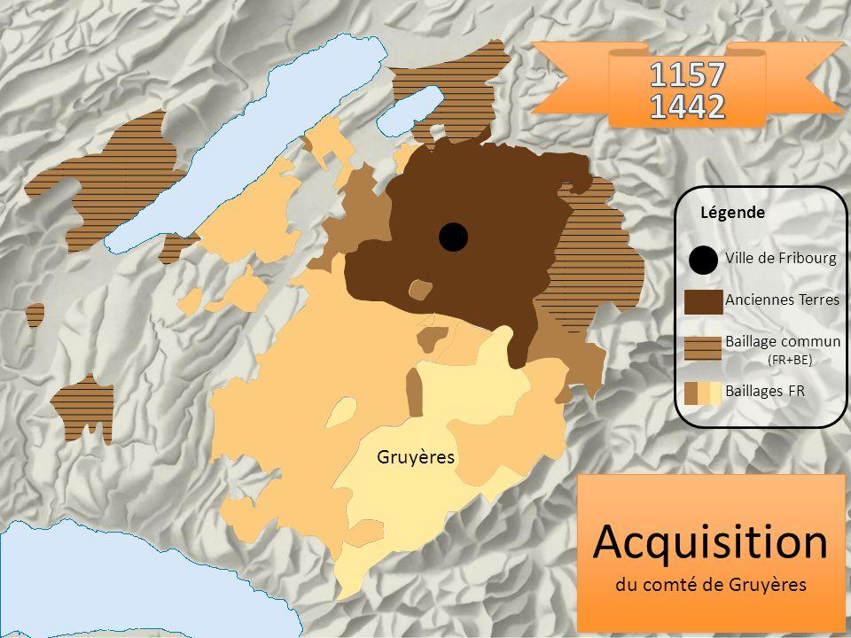 Acquisition 1157 1442 Gruyères du comté de Gruyères Légende