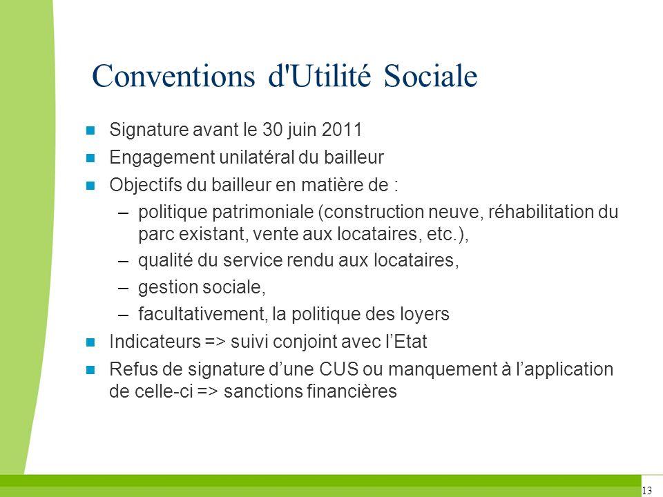 Conventions d Utilité Sociale