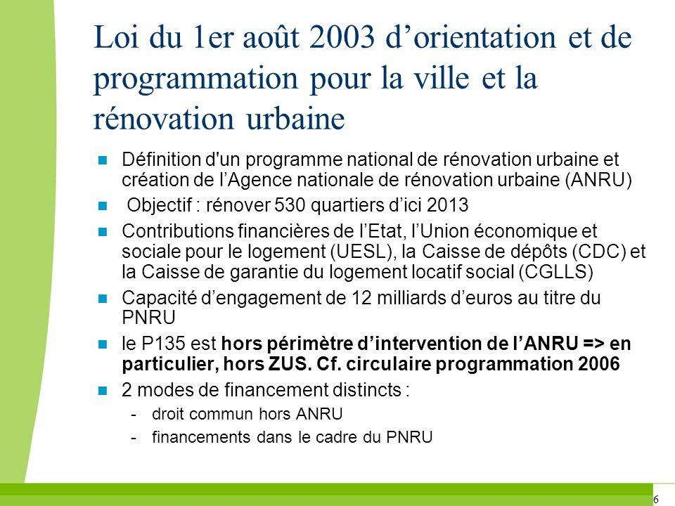 Loi du 1er août 2003 d'orientation et de programmation pour la ville et la rénovation urbaine