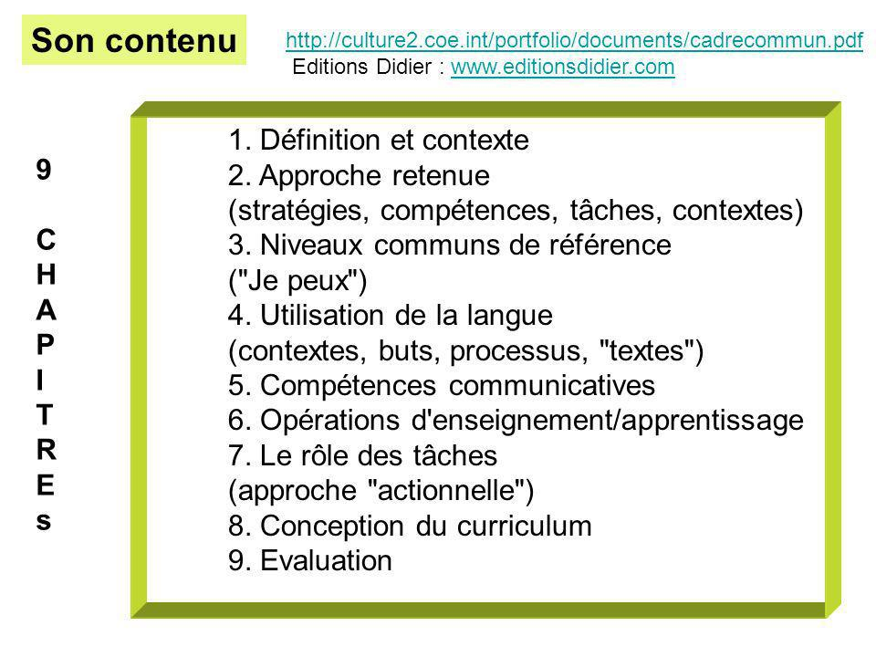 Son contenu 1. Définition et contexte 2. Approche retenue 9
