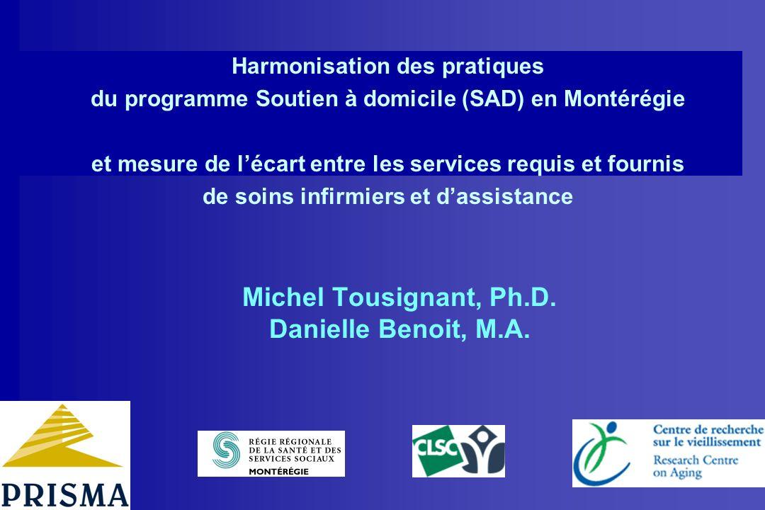 Michel Tousignant, Ph.D. Danielle Benoit, M.A.