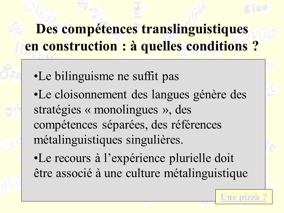 Des compétences translinguistiques en construction : à quelles conditions