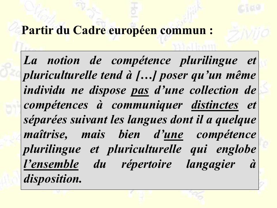 Partir du Cadre européen commun :