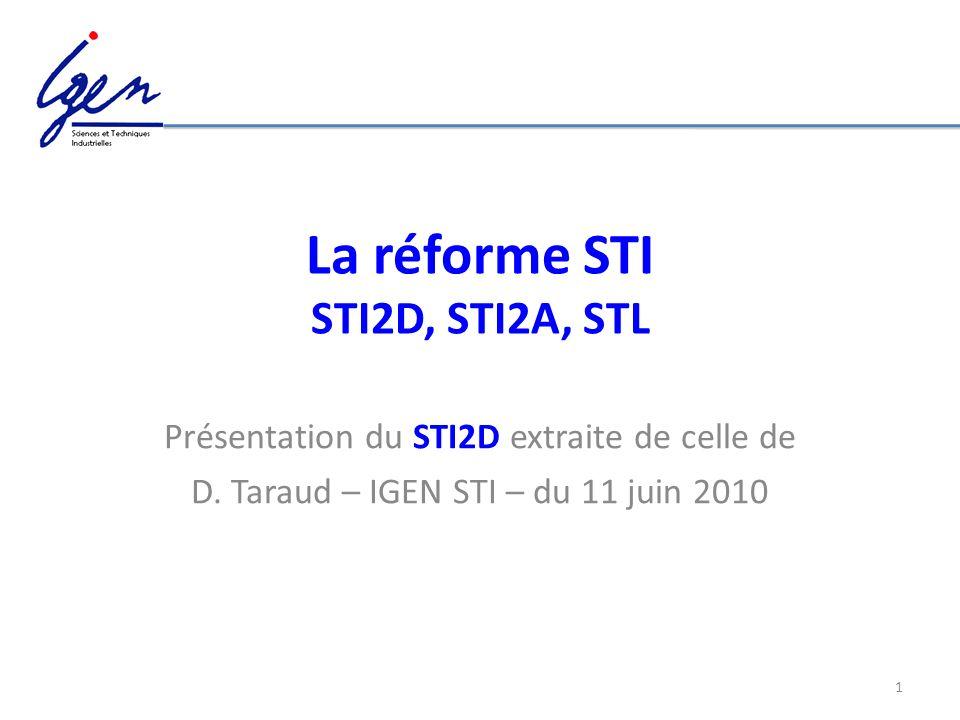 La réforme STI STI2D, STI2A, STL