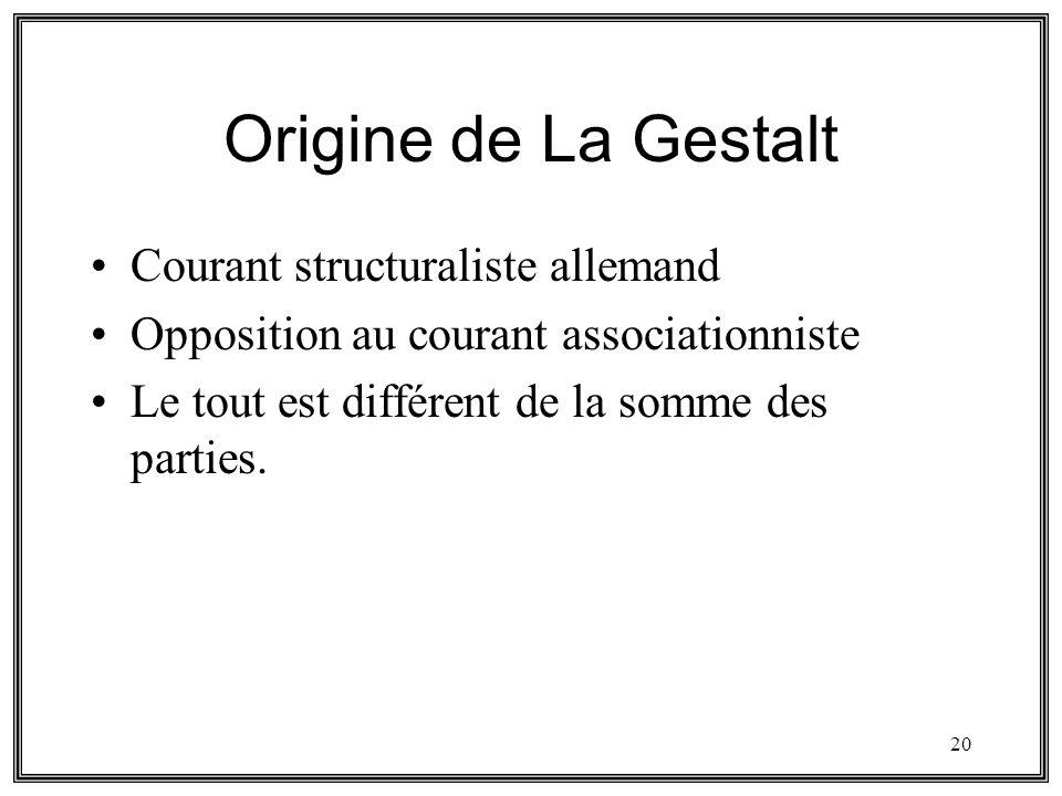 Origine de La Gestalt Courant structuraliste allemand