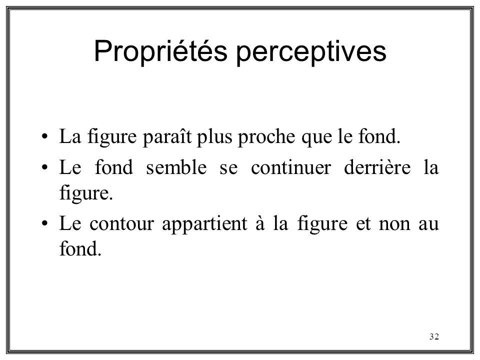 Propriétés perceptives