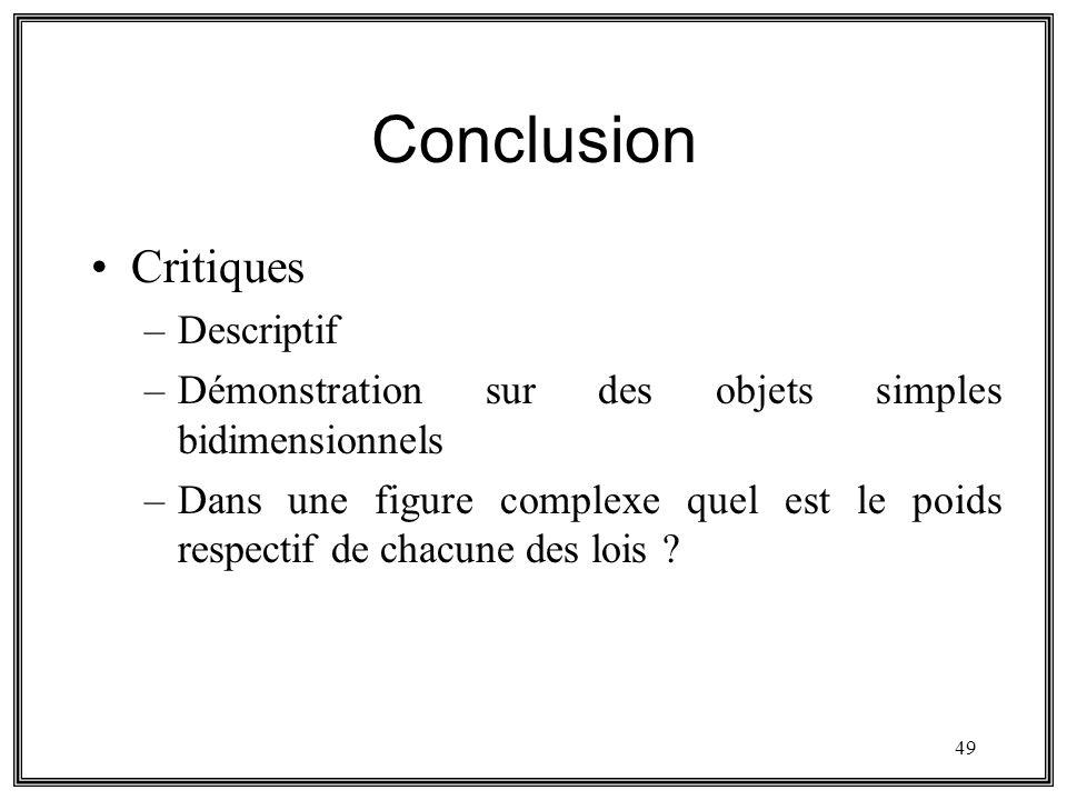 Conclusion Critiques Descriptif
