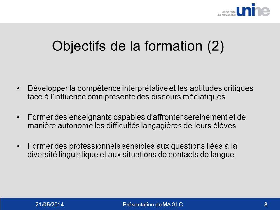 Objectifs de la formation (2)