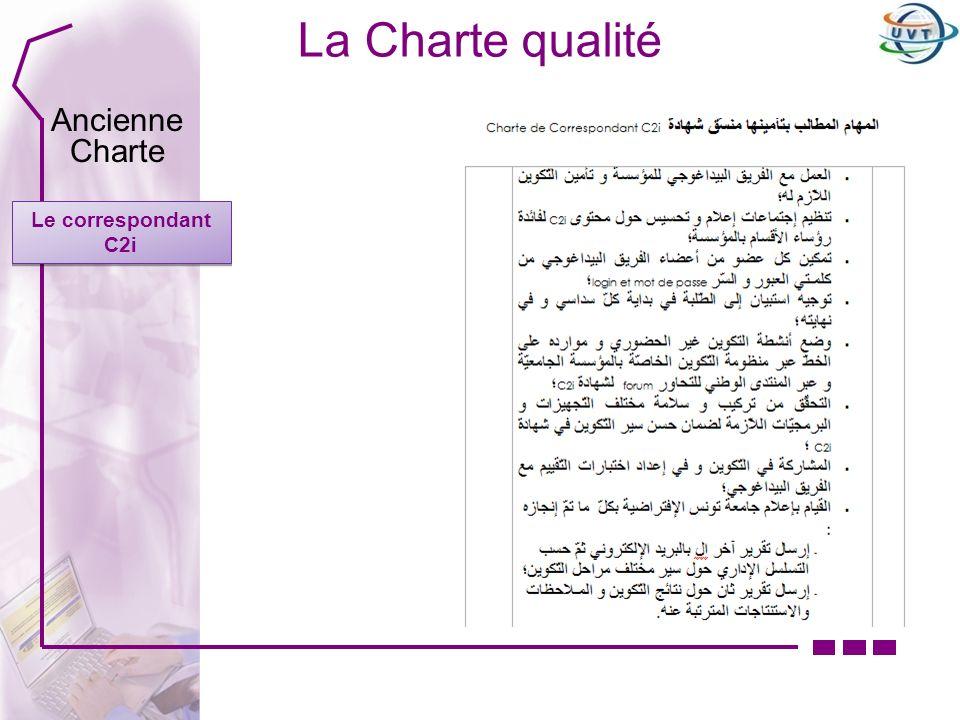 La Charte qualité Ancienne Charte Le correspondant C2i