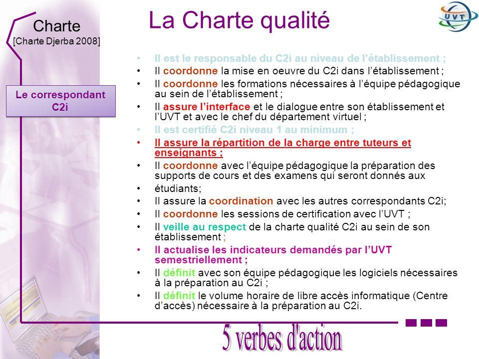 La Charte qualité 5 verbes d action Charte