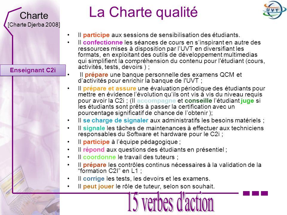 La Charte qualité 15 verbes d action Charte
