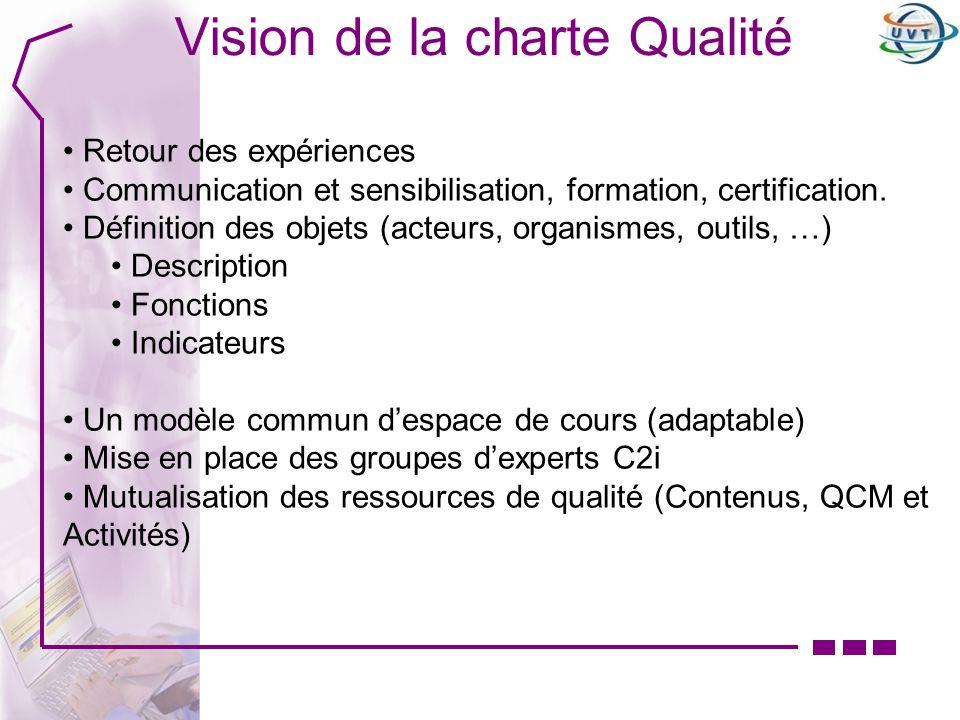 Vision de la charte Qualité