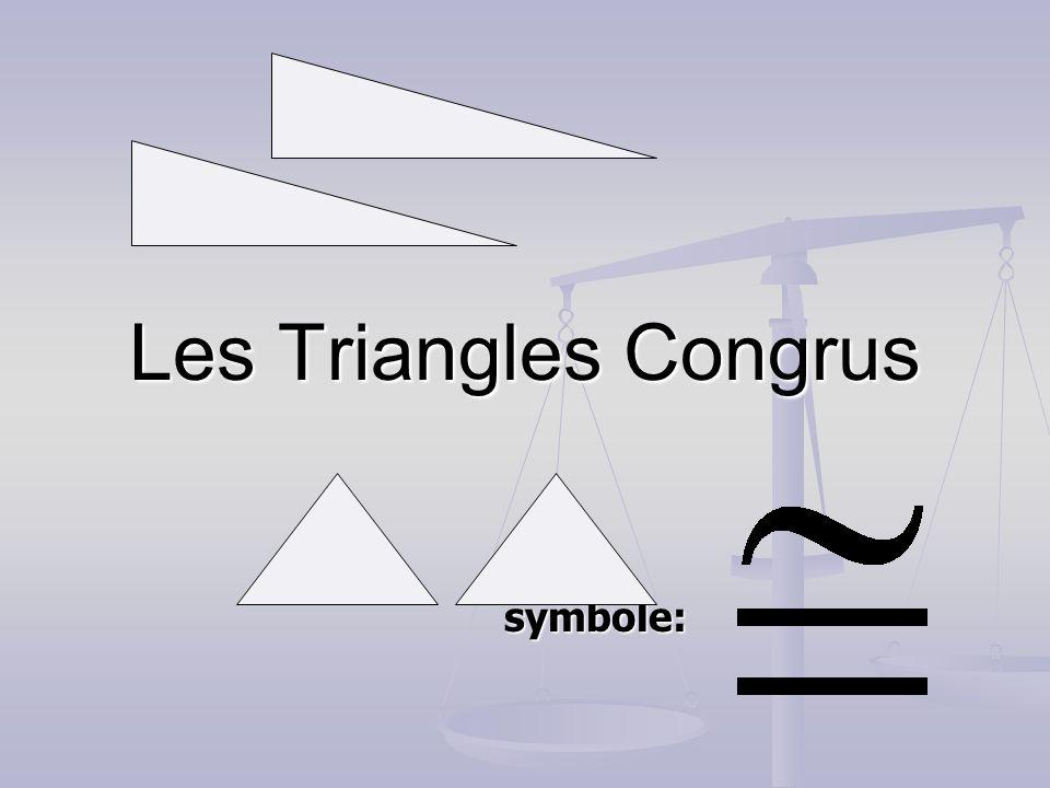 Les Triangles Congrus symbole: