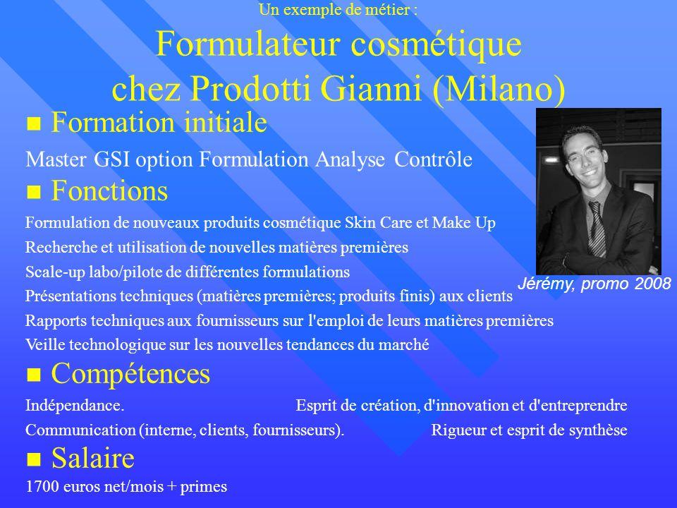 Formation initiale Fonctions Compétences Salaire