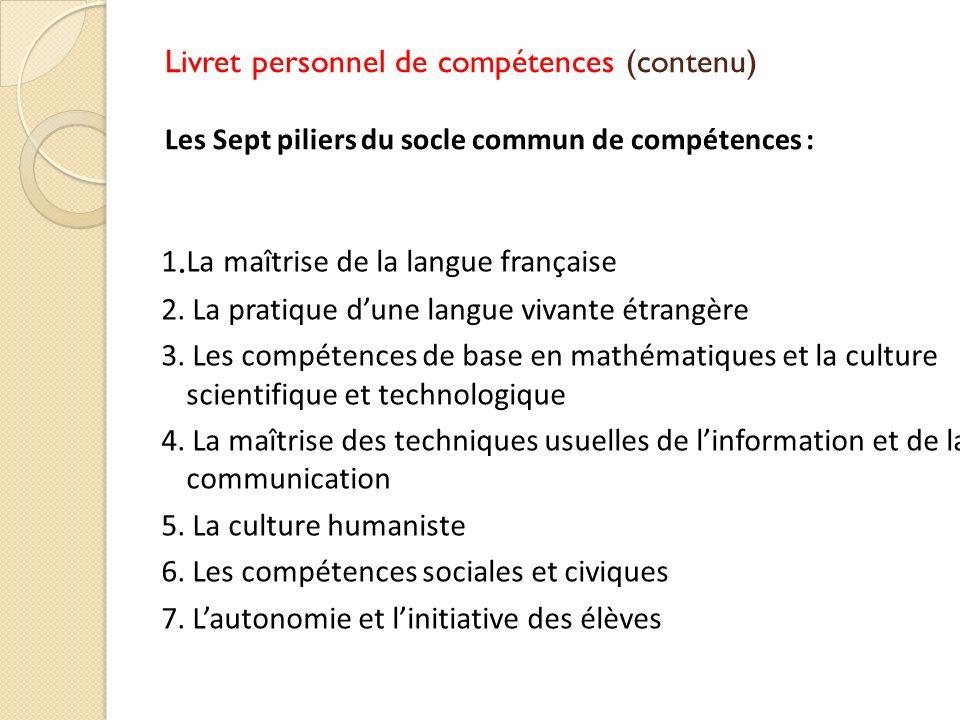 1.La maîtrise de la langue française