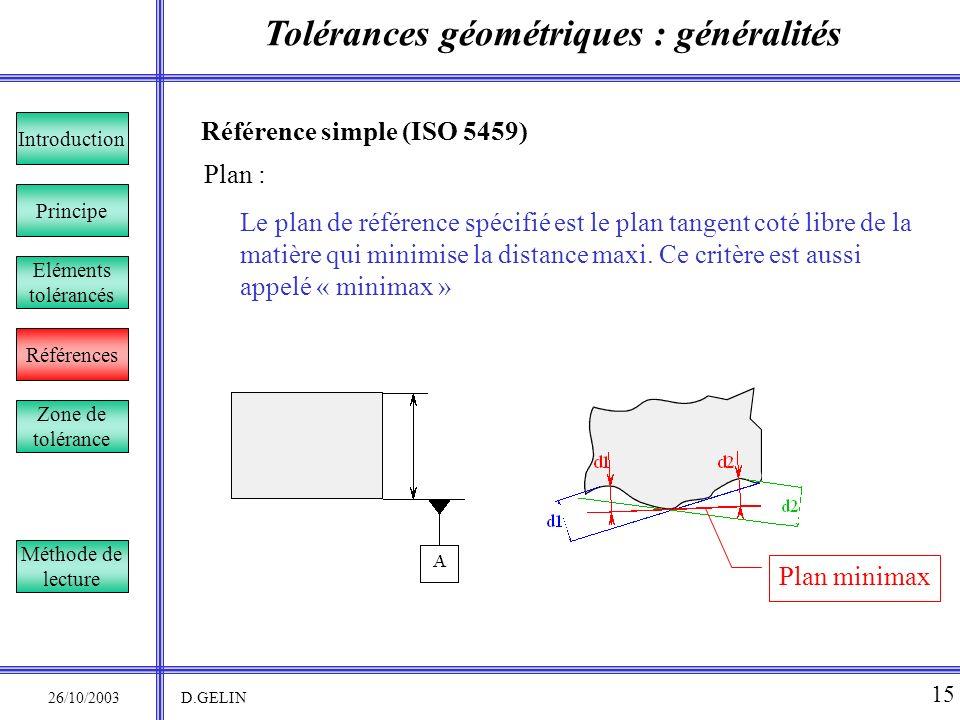 Tolérances géométriques : généralités