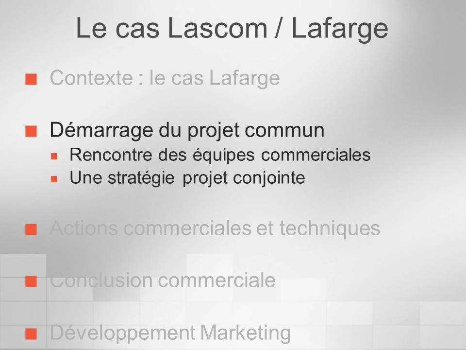 Le cas Lascom / Lafarge Contexte : le cas Lafarge