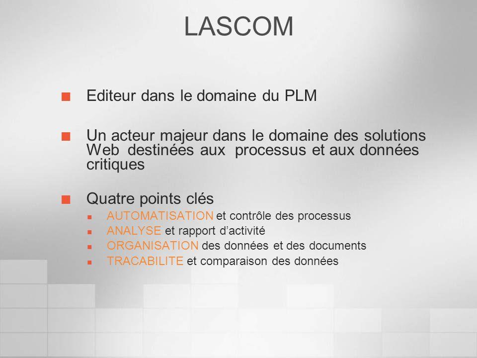LASCOM Editeur dans le domaine du PLM