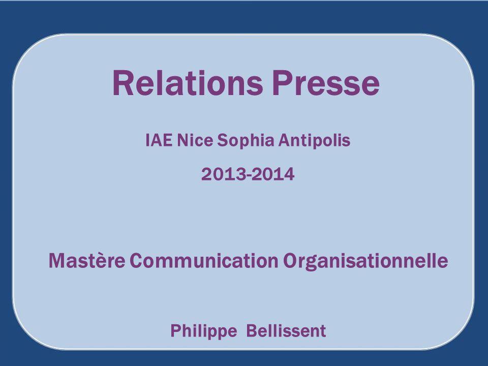 IAE Nice Sophia Antipolis Mastère Communication Organisationnelle
