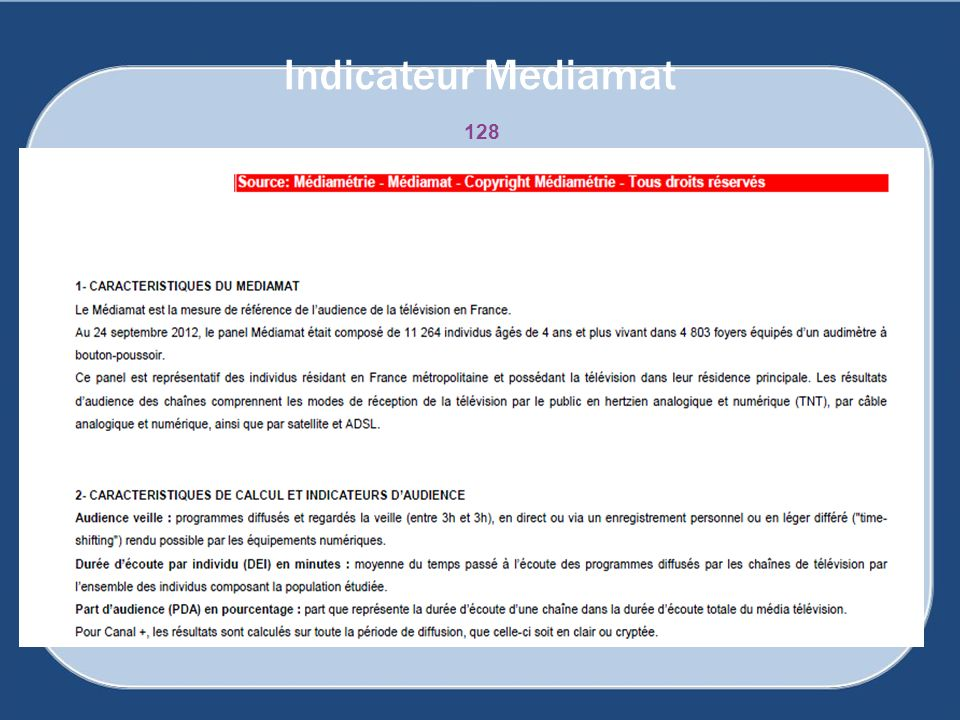 Indicateur Mediamat