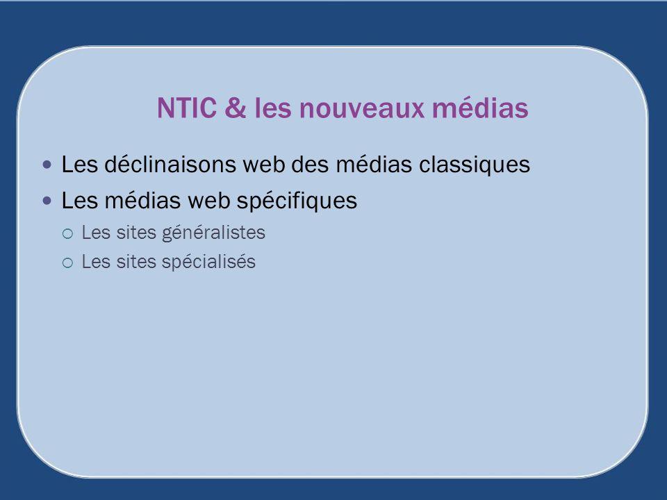NTIC & les nouveaux médias