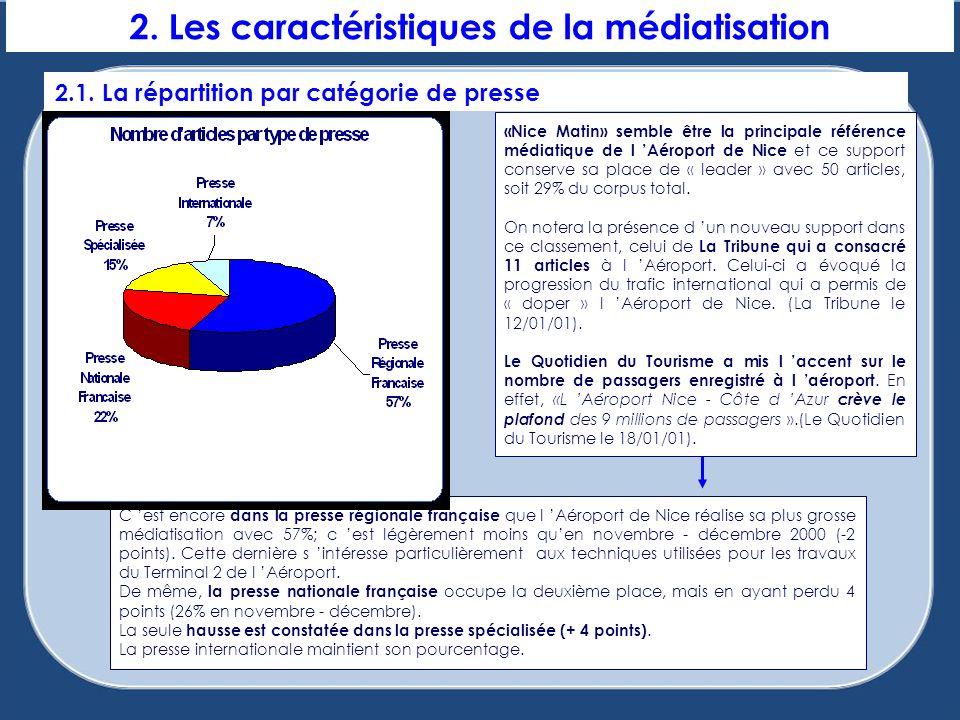 2. Les caractéristiques de la médiatisation