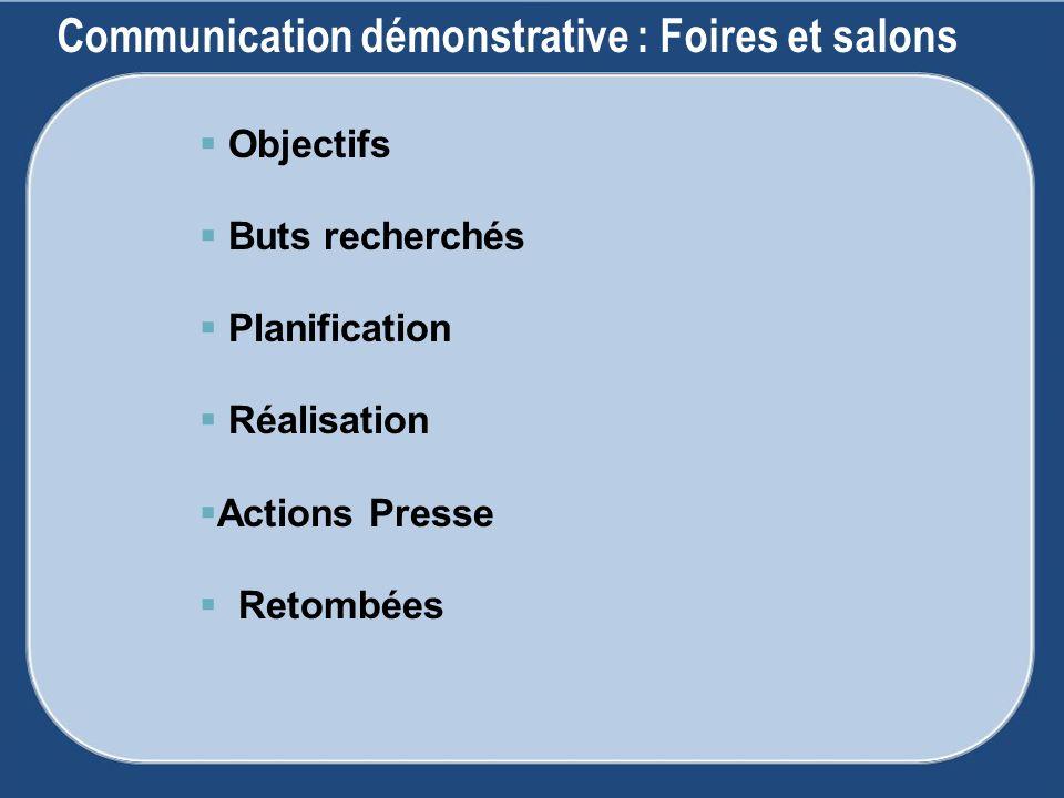 Communication démonstrative : Foires et salons