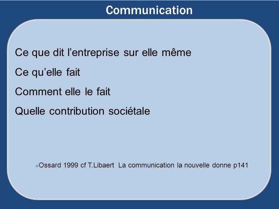 Ossard 1999 cf T.Libaert La communication la nouvelle donne p141