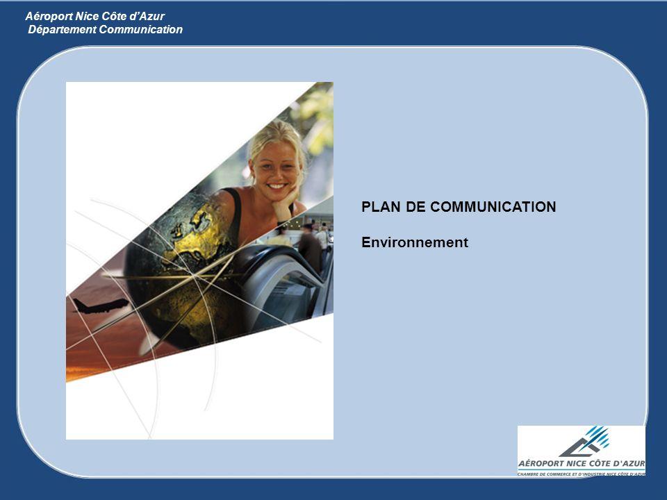 PLAN DE COMMUNICATION Environnement Aéroport Nice Côte d'Azur