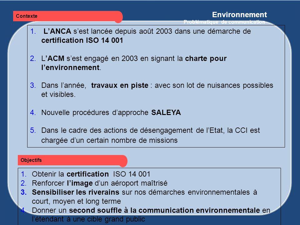 L'ACM s'est engagé en 2003 en signant la charte pour l'environnement.