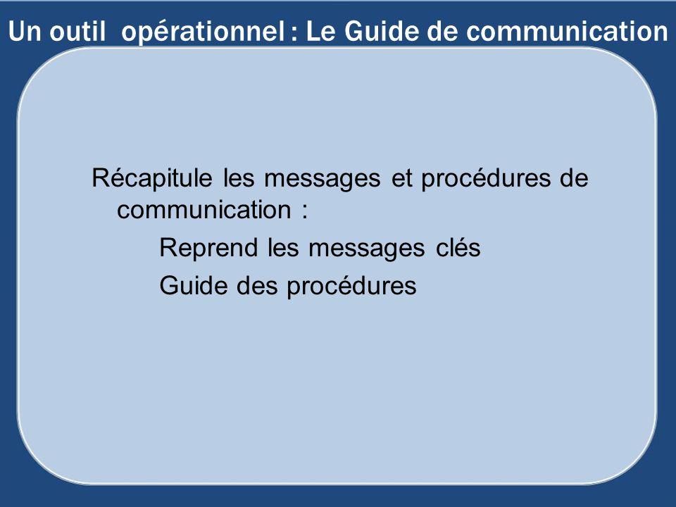 Un outil opérationnel : Le Guide de communication