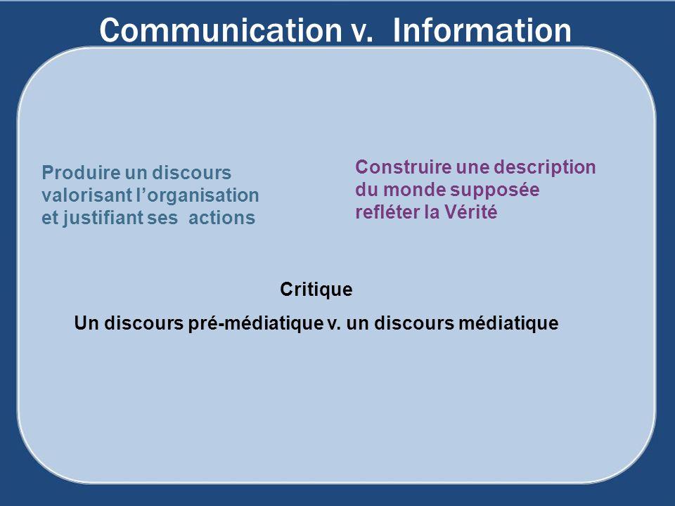 Communication v. Information