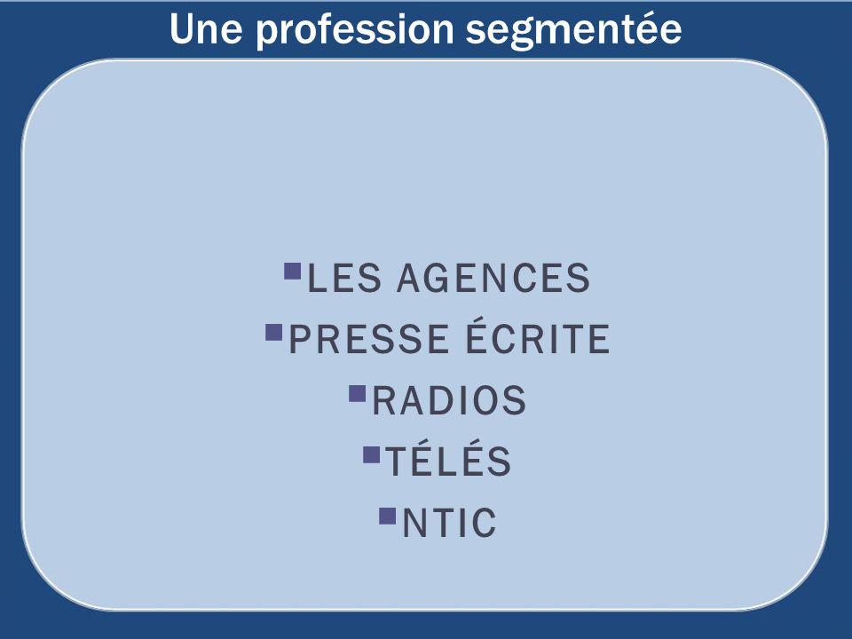 Une profession segmentée