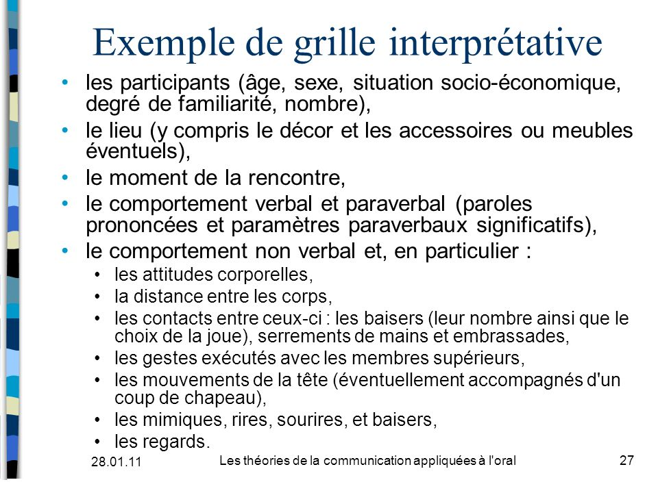 Exemple de grille interprétative