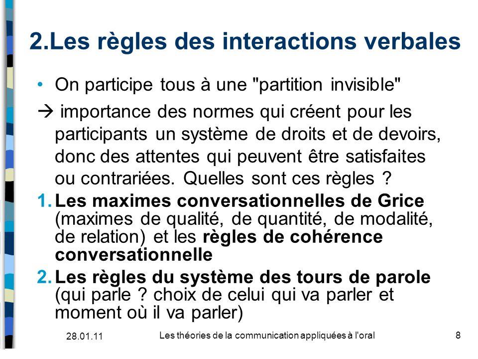 Les règles des interactions verbales
